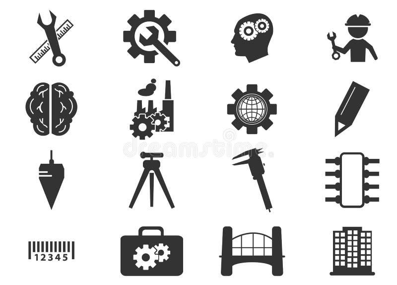 установленные иконы инженерства бесплатная иллюстрация
