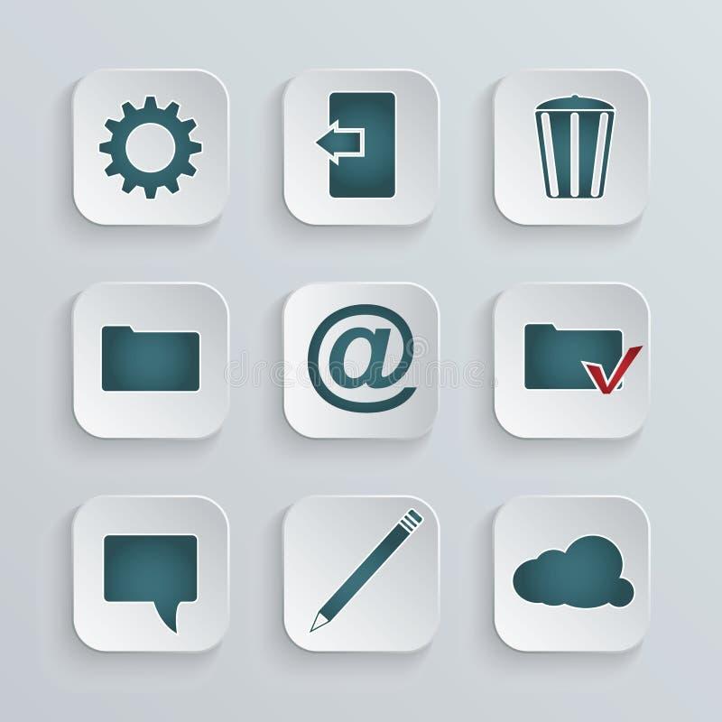Download установленные иконы иллюстрация вектора. иллюстрации насчитывающей иконы - 41659126