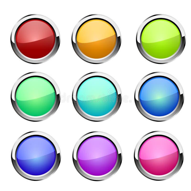 Установленные кнопки вектор иллюстрация вектора