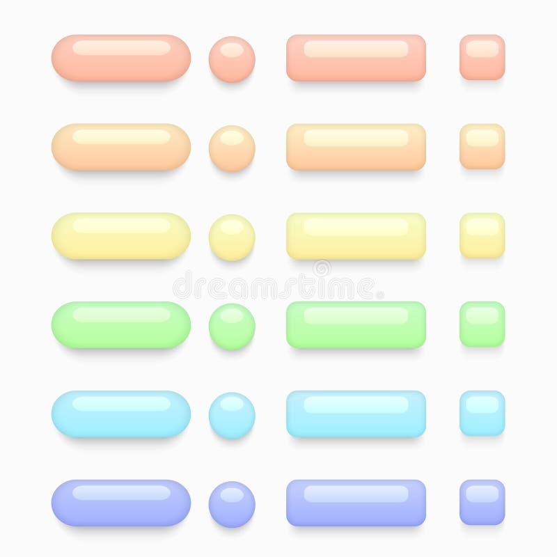 Установленные кнопки сети вектора современные красочные бесплатная иллюстрация