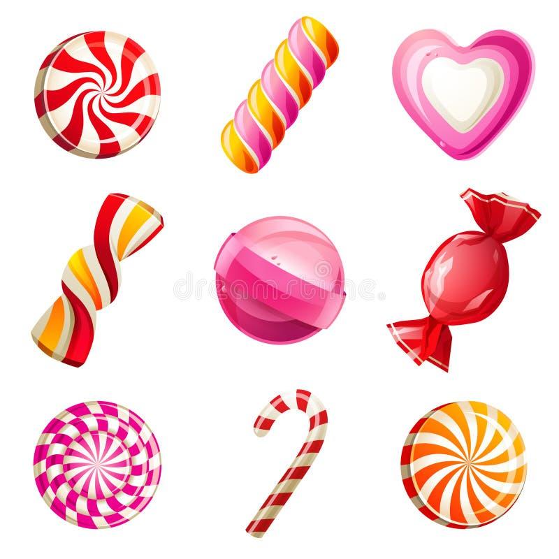 Установленные конфеты иллюстрация штока