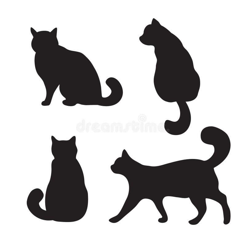 Обои кот черный луна ночь силуэт очертания картинки