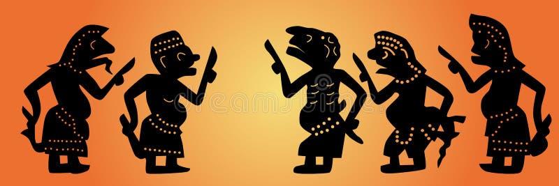 Установленные марионетки тени бесплатная иллюстрация