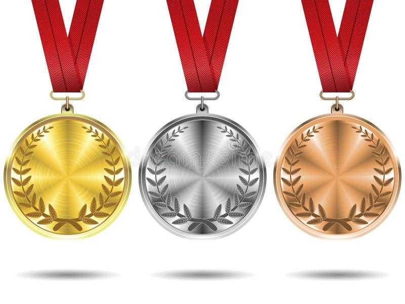 установленные медали иллюстрация штока