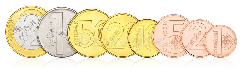 Установленные монетки Беларуси стоковое изображение rf