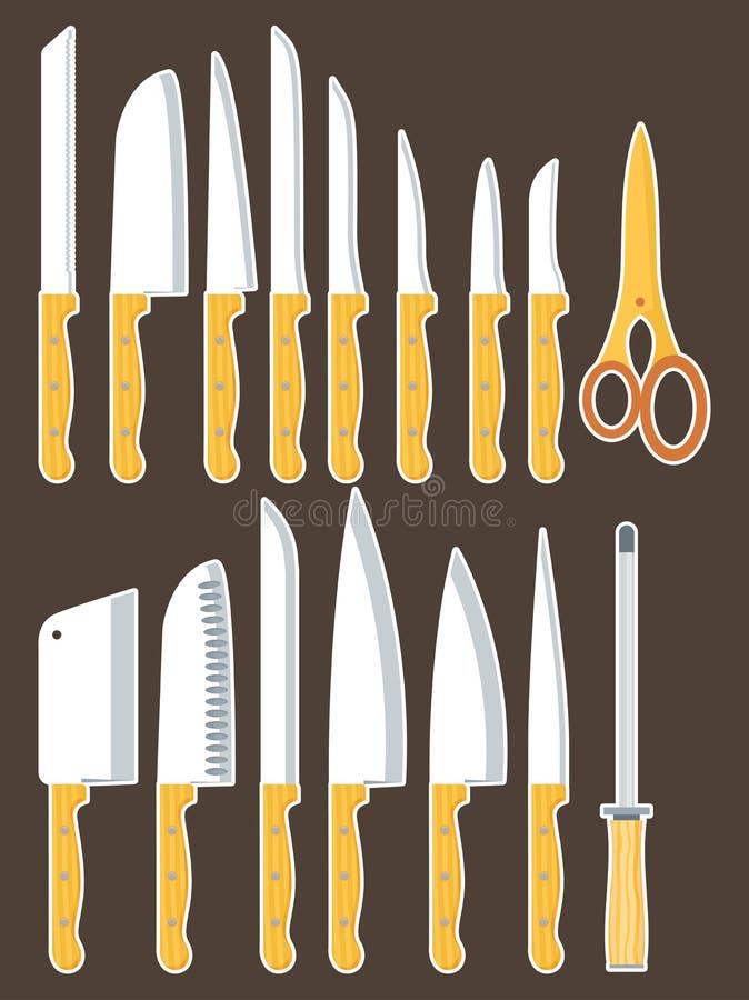 установленные ножи иллюстрация штока