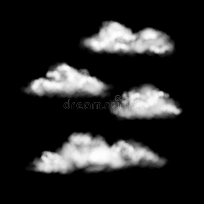 Установленные облака вектора иллюстрация штока