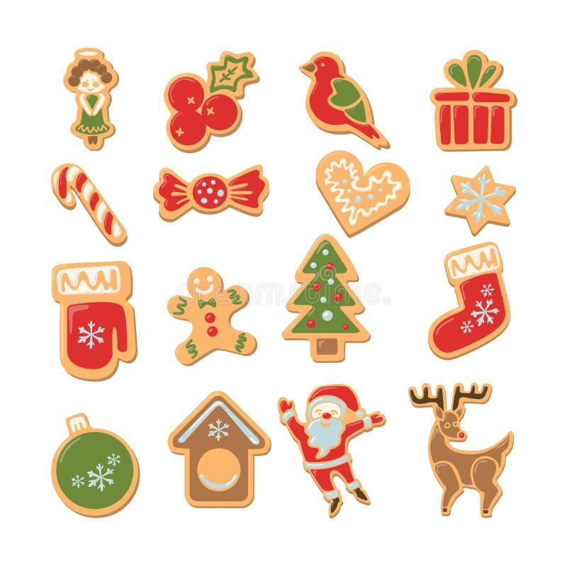 установленные печенья рождества бесплатная иллюстрация