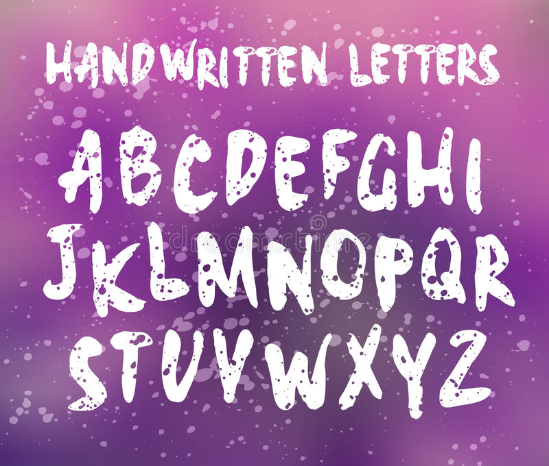 Установленные письма вектора рукописные бесплатная иллюстрация