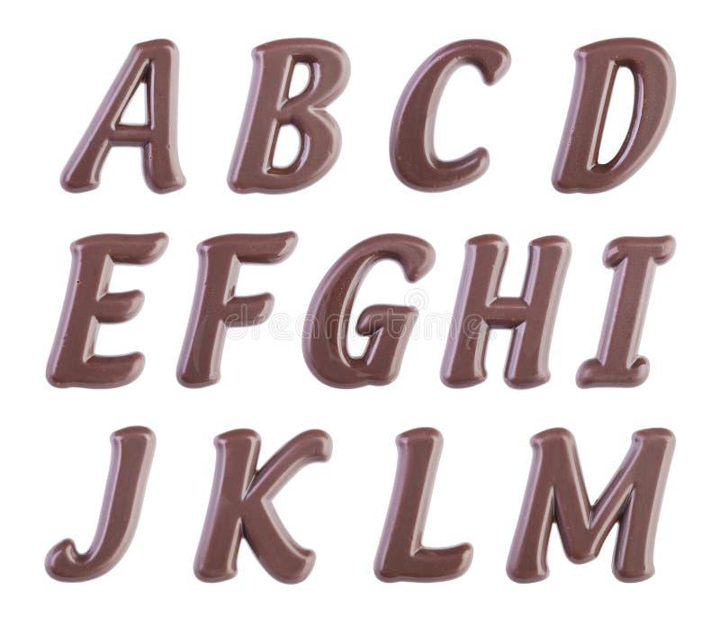 установленные письма иллюстрации шоколада алфавита стоковая фотография