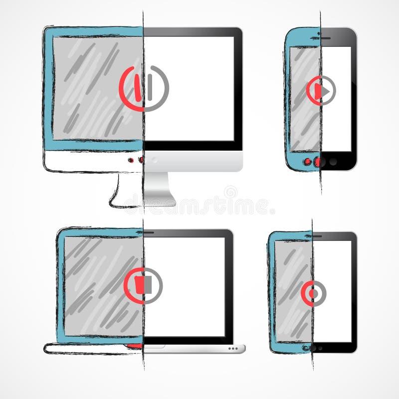 Установленные приборы цифров бесплатная иллюстрация