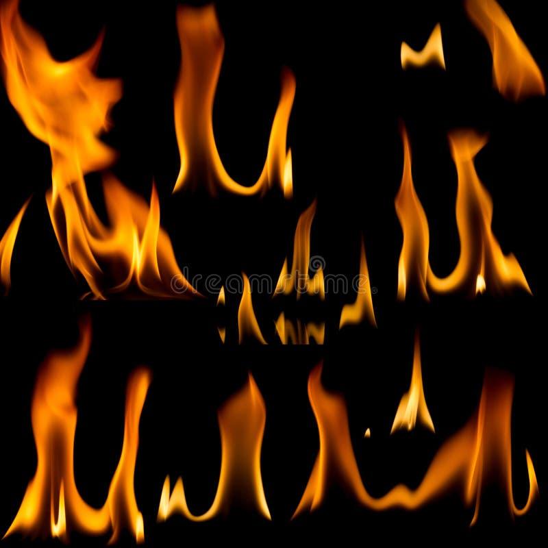 установленные пламена пожара стоковая фотография rf