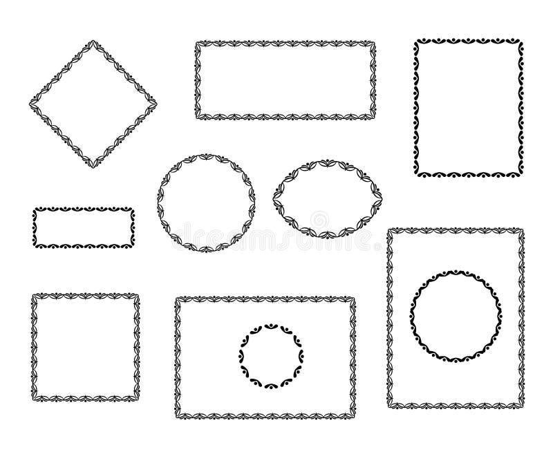 установленные рамки Винтаж бесплатная иллюстрация