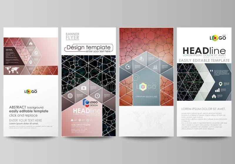 Установленные рогульки, современные знамена шаблоны типа иллюстрации дела корпоративные Шаблон дизайна крышки, планы вектора Карт иллюстрация вектора