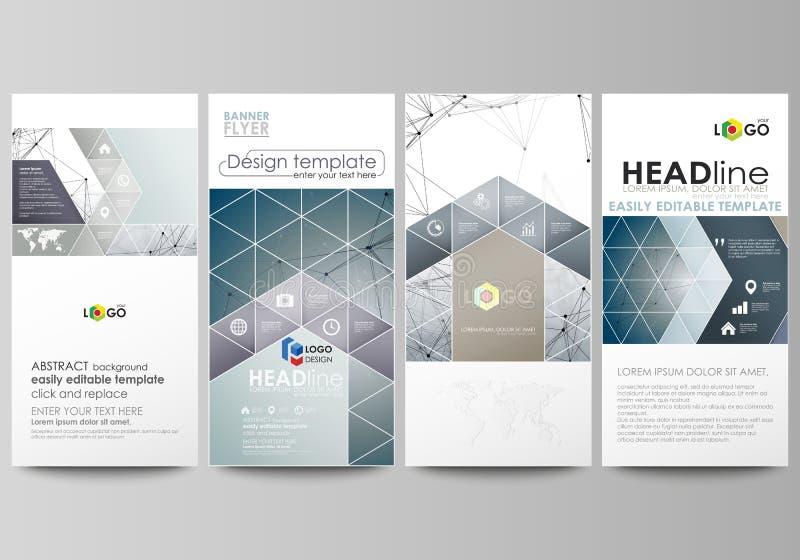 Установленные рогульки, современные знамена шаблоны типа иллюстрации дела корпоративные Шаблон дизайна крышки, абстрактные планы  иллюстрация вектора