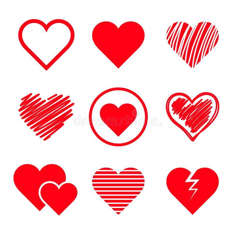 Download Установленные сердца вектора Иллюстрация вектора - иллюстрации насчитывающей украшение, иллюстрация: 37927769