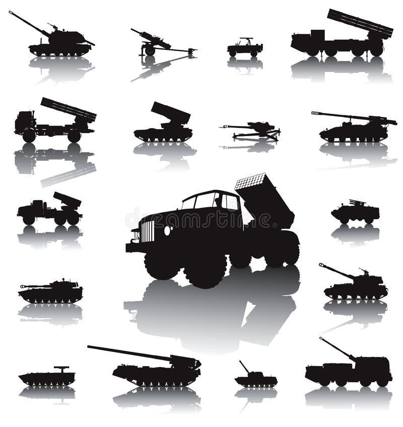 Комплект артиллерии иллюстрация штока