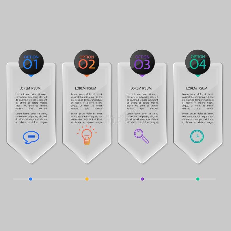 Установленные стеклянные пластинки, infographic дизайн бесплатная иллюстрация