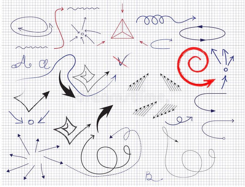 установленные стрелки также вектор иллюстрации притяжки corel иллюстрация вектора