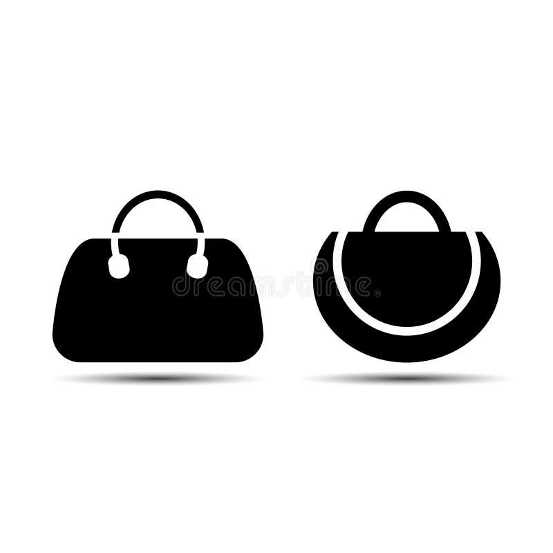 Установленные сумки также вектор иллюстрации притяжки corel иллюстрация вектора