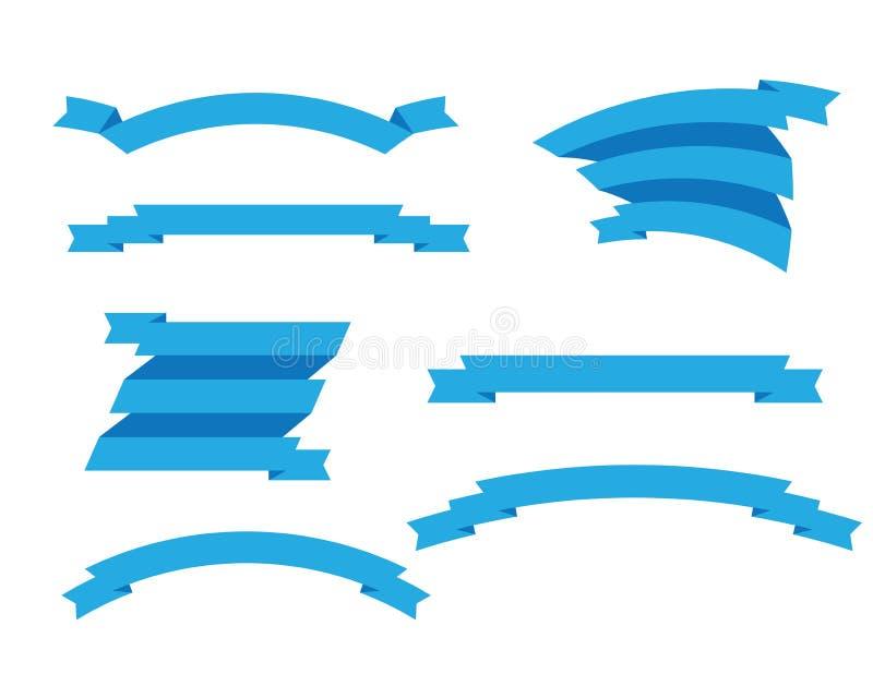 установленные тесемки иллюстрация вектора