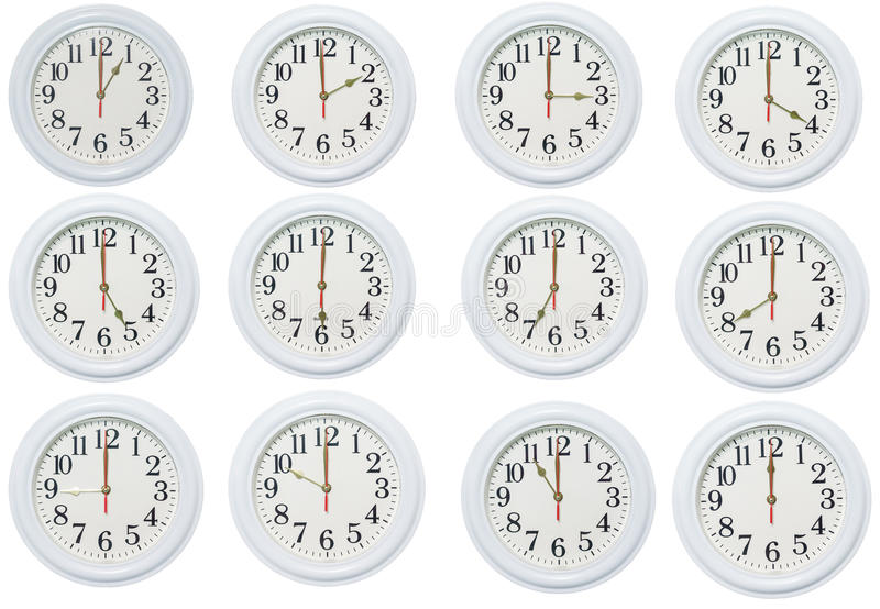 установленные часы иллюстрация вектора