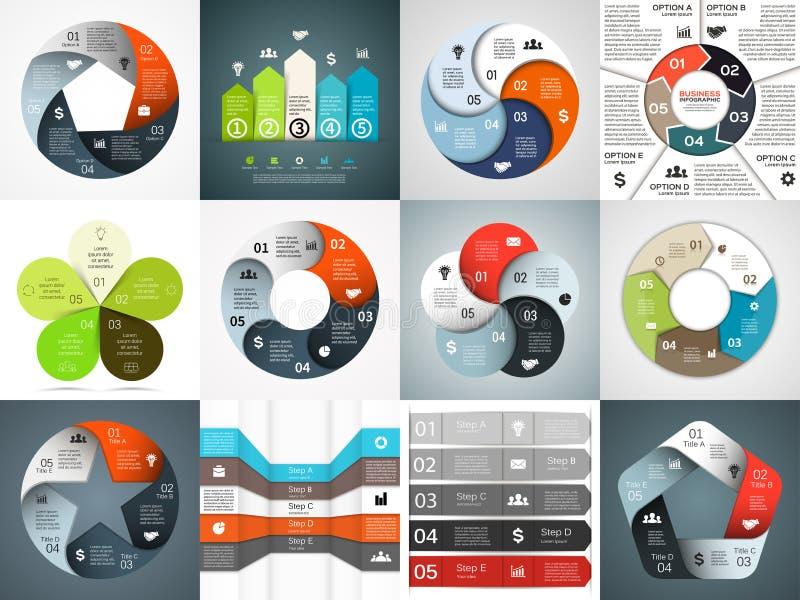 Установленные шаблоны infographics вектора Шаблон для иллюстрация штока