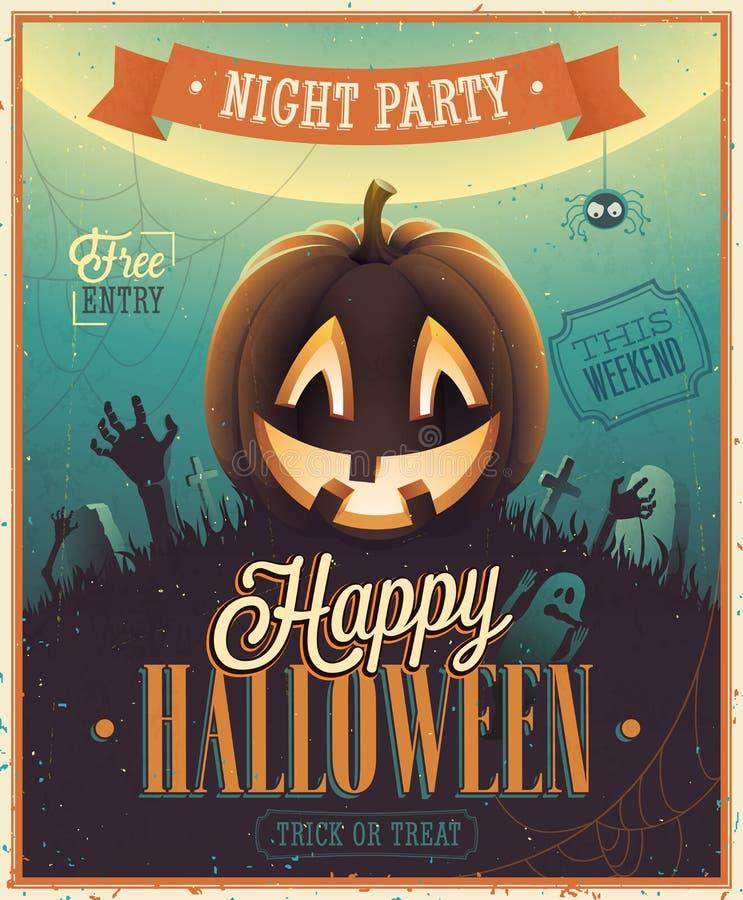 Установленные эмблемы хеллоуина бесплатная иллюстрация