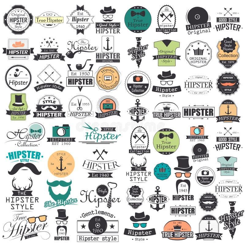 Установленные элементы и значки infographics стиля битника бесплатная иллюстрация