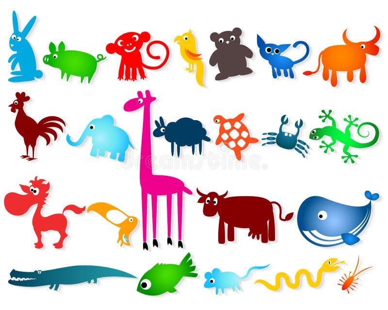 Download Установленные Cartoony животные Иллюстрация вектора - иллюстрации насчитывающей шарж, backhoe: 41660365