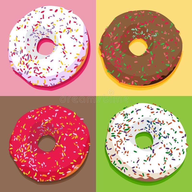 Установленные Donuts бесплатная иллюстрация