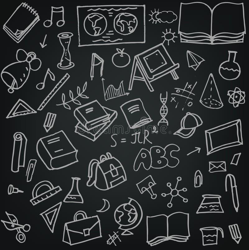 Установленные doodles hool  SÑ иллюстрация вектора