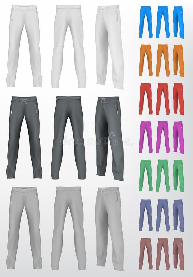 Установленные sweatpants спорта иллюстрация вектора