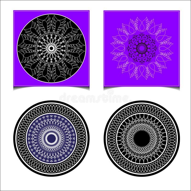 Установленный абстрактный круг иллюстрация вектора
