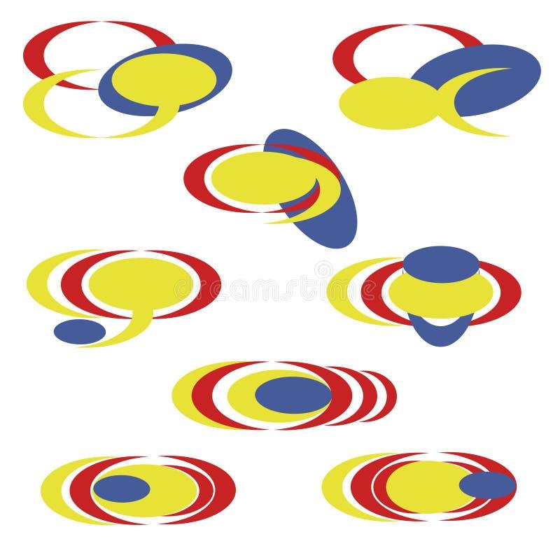 установленный абстрактный логотип - простой иллюстрация вектора