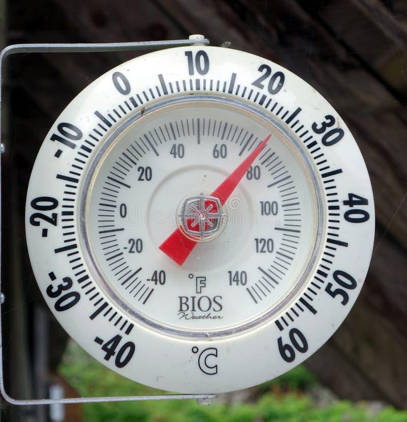 Установленный термометр стоковое изображение
