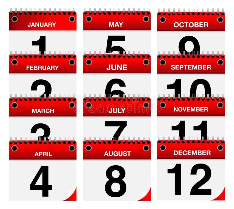 2015 установленных значков календаря вектора иллюстрация вектора