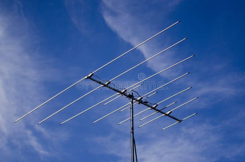 Устаревшая антенна tv аналога стоковая фотография