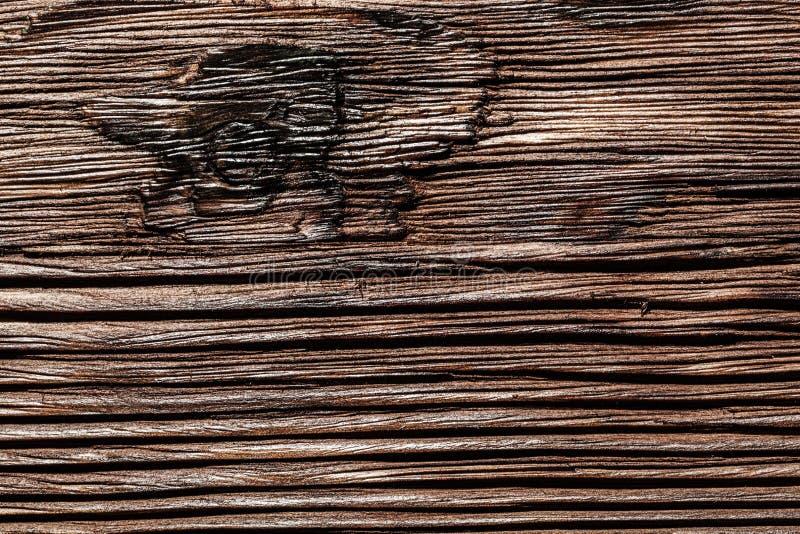 Устаревшая коричневая натуральная деревянная поверхность стоковые фотографии rf