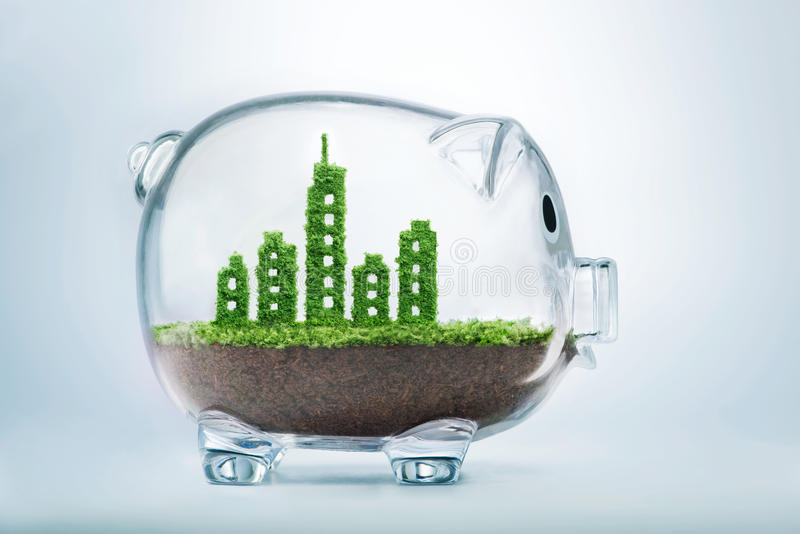 Устойчивое городское развитие стоковые изображения rf