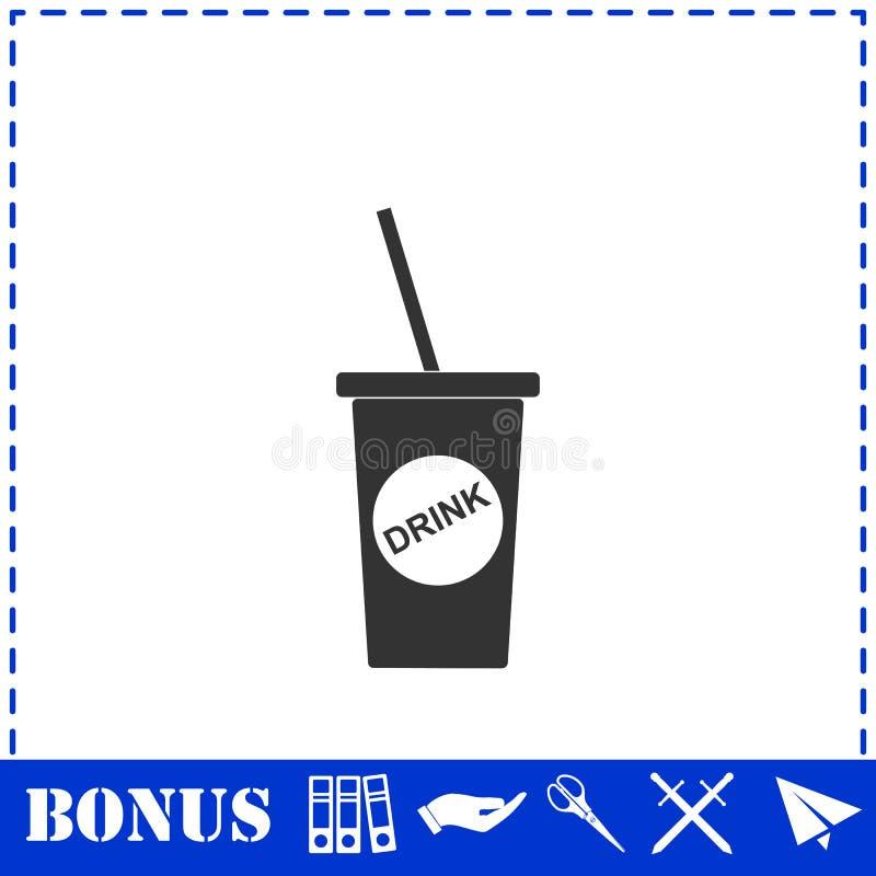 Устранимый значок чашки соды плоско бесплатная иллюстрация