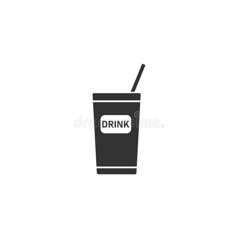 Устранимый значок чашки соды плоско иллюстрация вектора