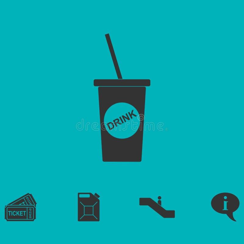 Устранимый значок чашки соды плоско иллюстрация штока