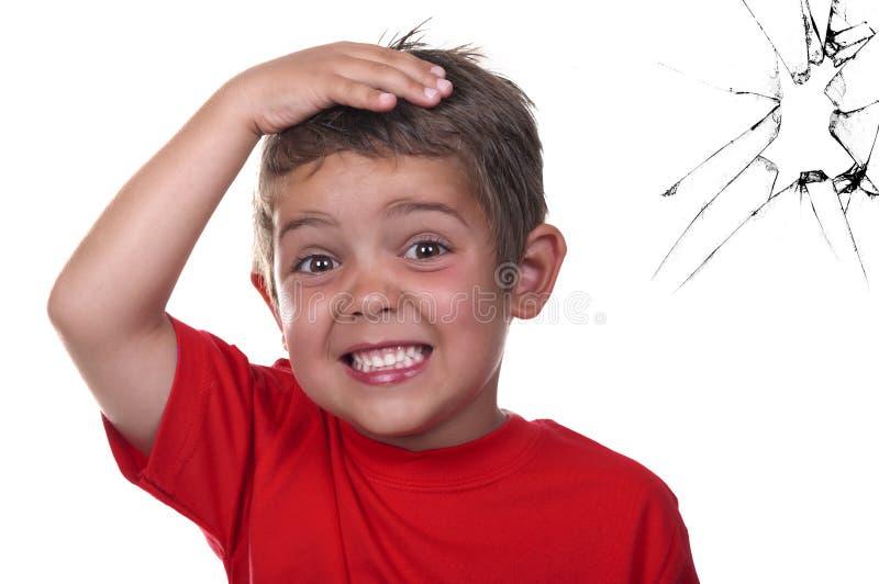 устрашенный ребенок стоковое фото rf