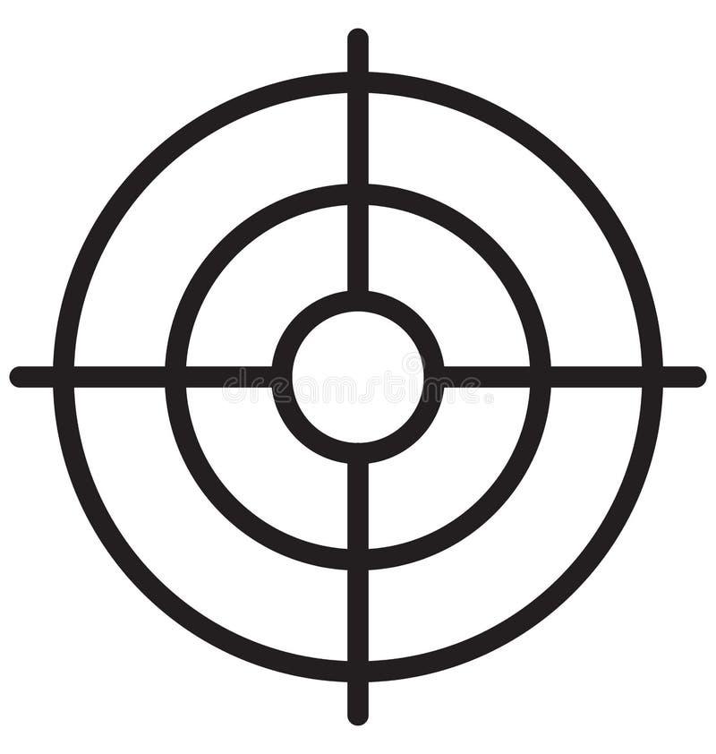Устремленности, цель бизнеса изолированный значок вектора могут быть легко редактируют и дорабатывают иллюстрация штока