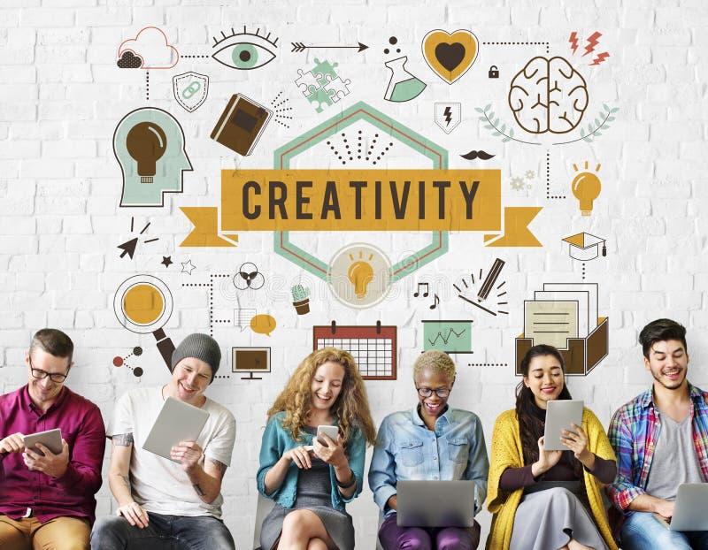 Устремленности способности творческих способностей создают концепцию развития стоковое изображение