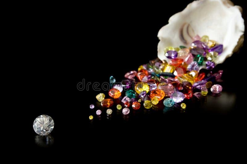 устрица самоцветов диаманта стоковые изображения