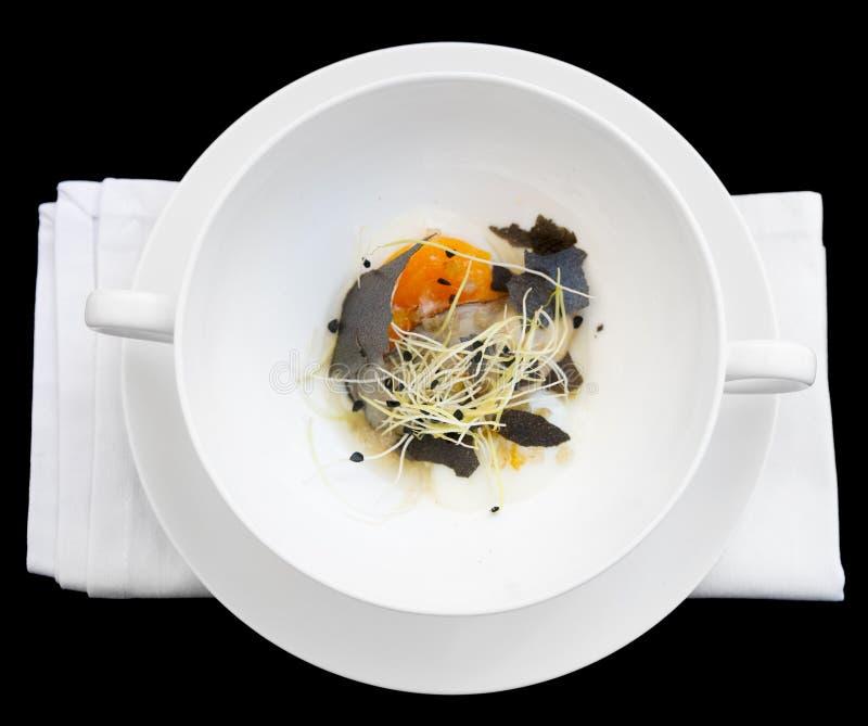 Устрица с медленным сваренным омлетом стоковое изображение