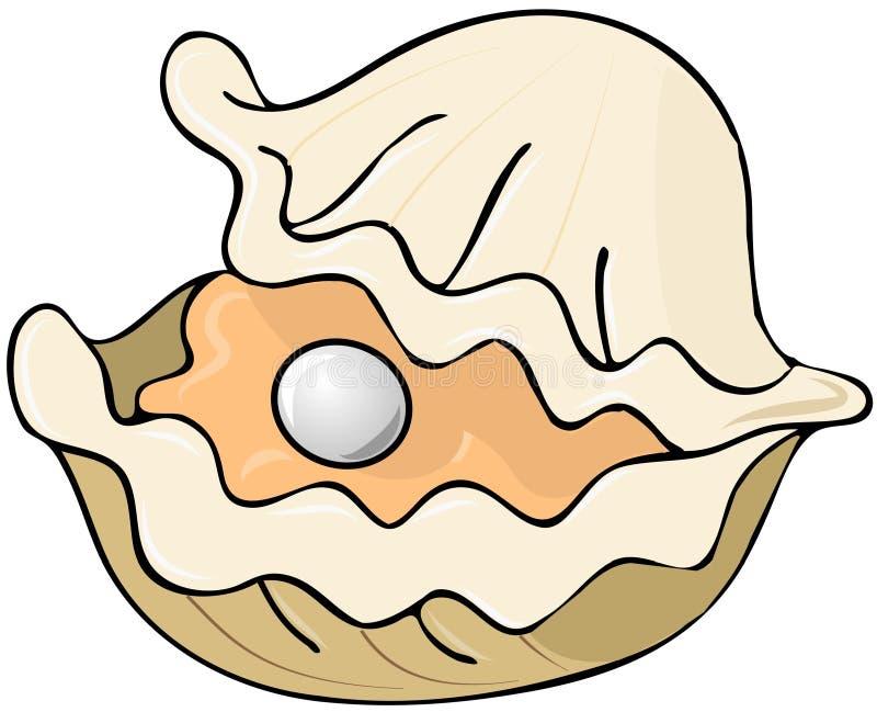 Устрица с перлой иллюстрация штока