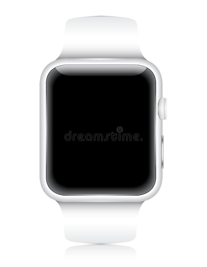Устройство Smartwatch вектора пригодное для носки стоковые фотографии rf